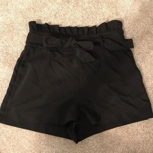 Zara High Wasted Bow Tie Shorts